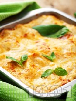 Лазаня с пиле и праз лук с бешамелова заливка - снимка на рецептата